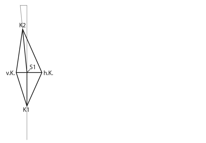 Schnittkonstruktion Drachenkeil