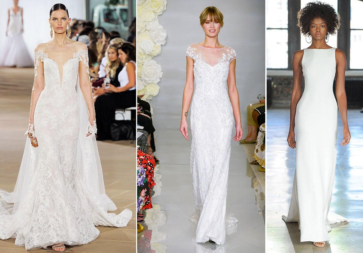 Brautkleider von Ines di Santo (l.), Theia und Watters