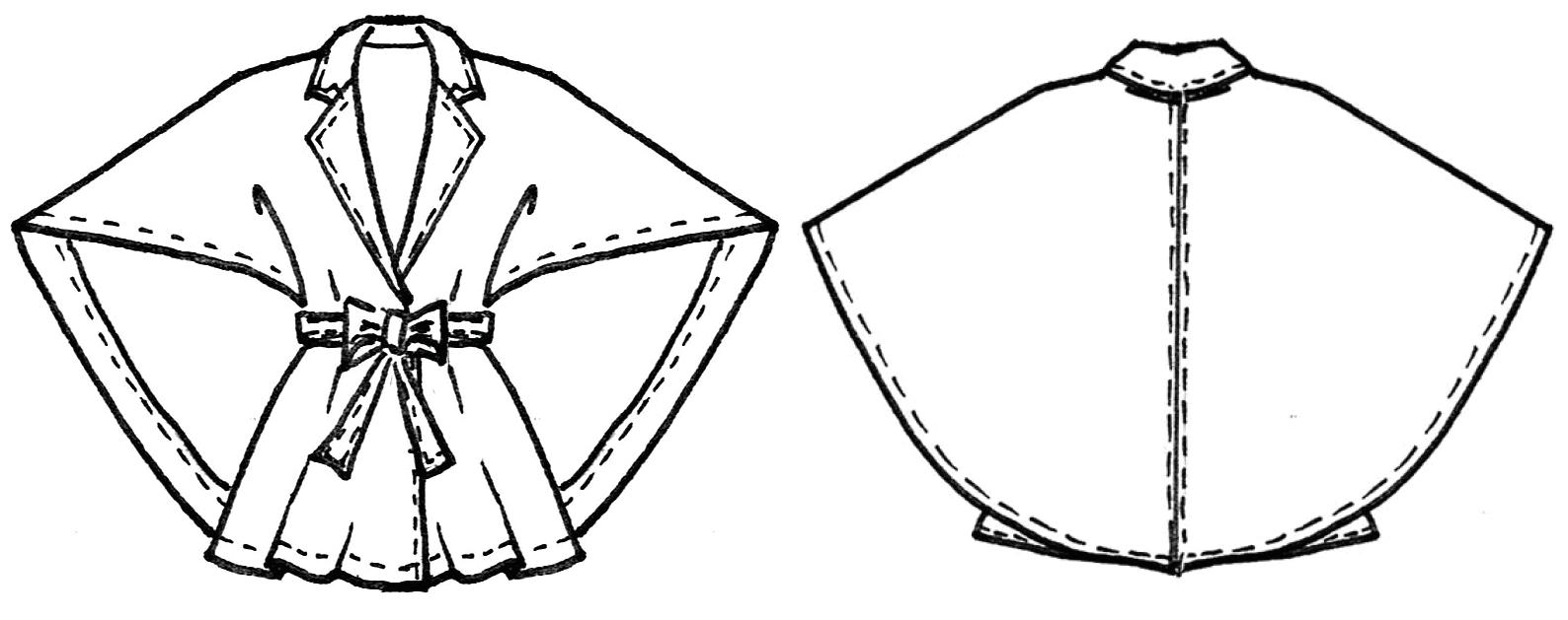 Schnittkonstruktion Capejacke