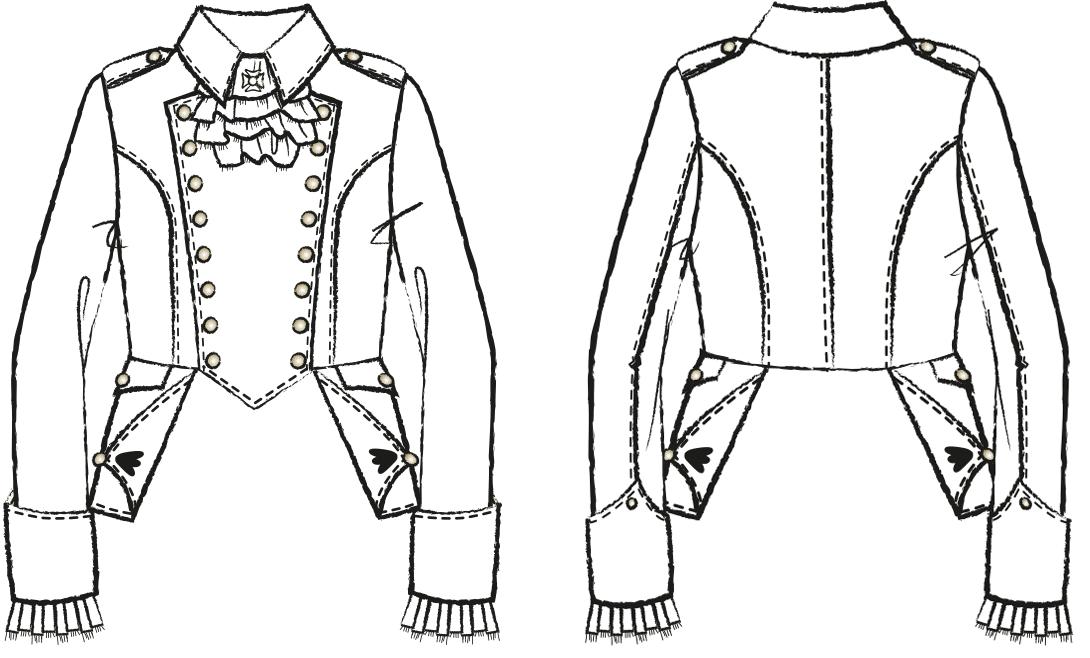 Uniformjacke des Funkenmariechen