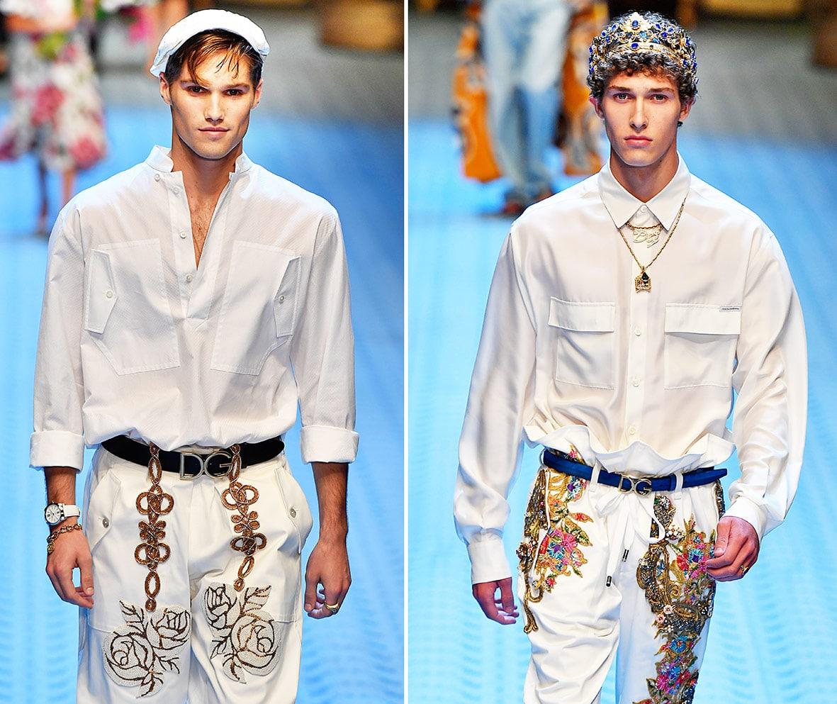 Hemden auf dem Laufsteg bei Dolce & Gabbana