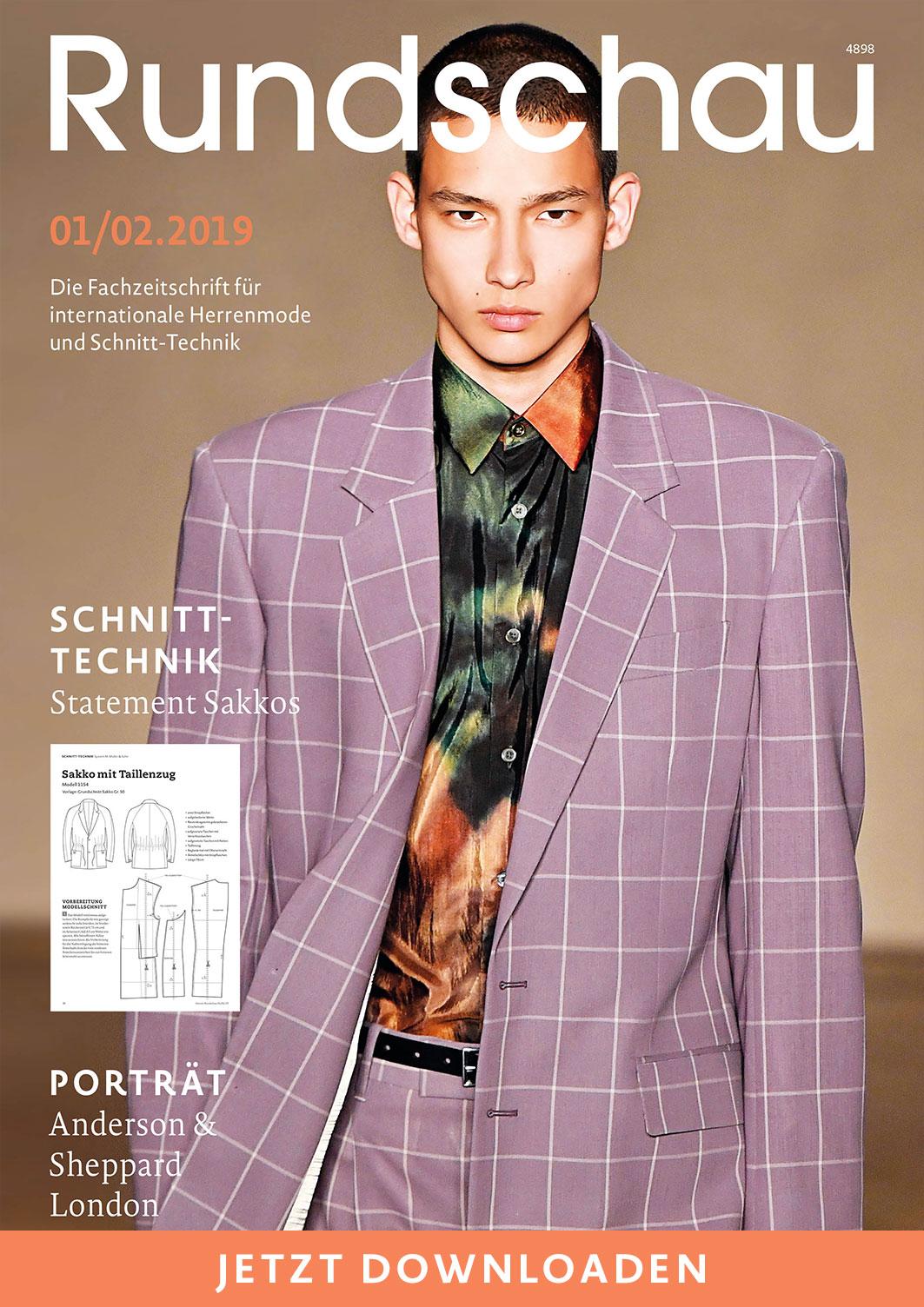 Rundschau für Internationale Herrenmode und Schnitt-Technik 1/2.2019