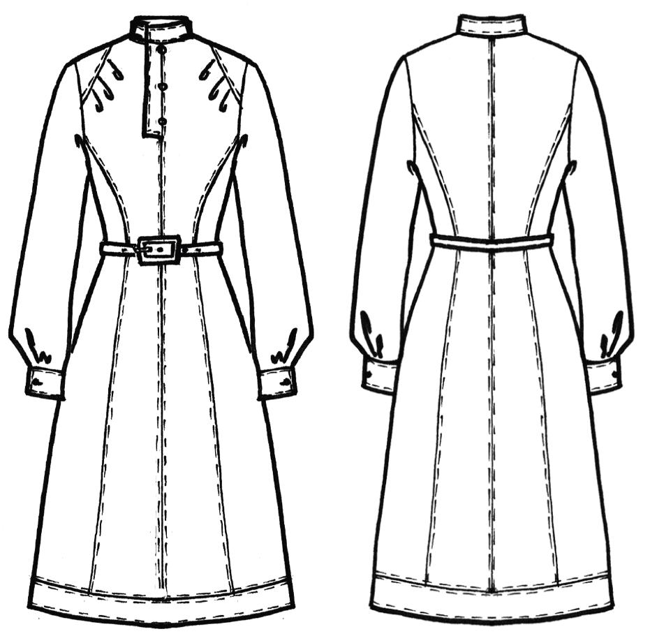 Schnittkonstruktion Vintage Kleid mit Teilungsnähten