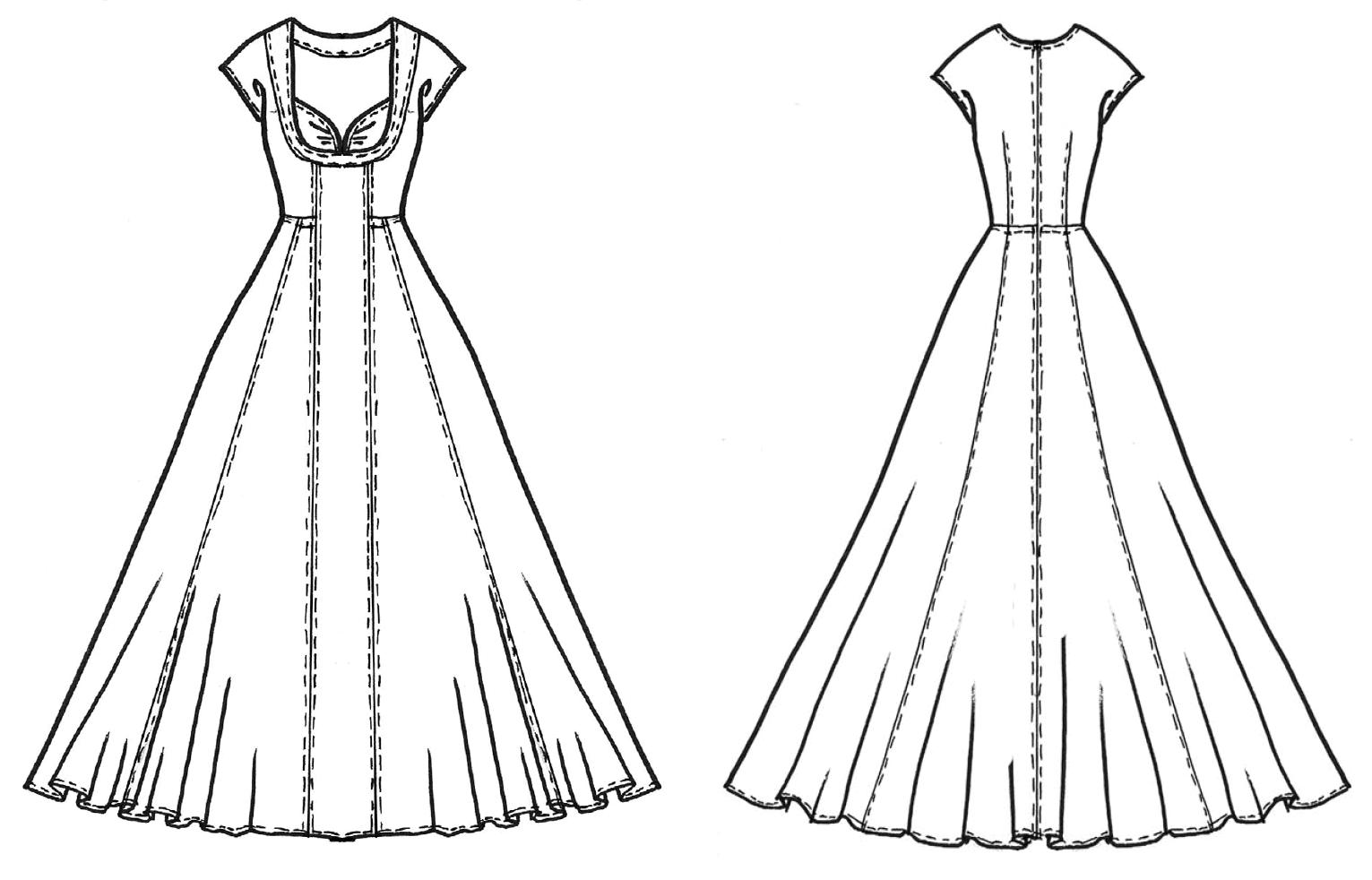 Schnitttechnik Kleid mit Balconette Ausschnitt