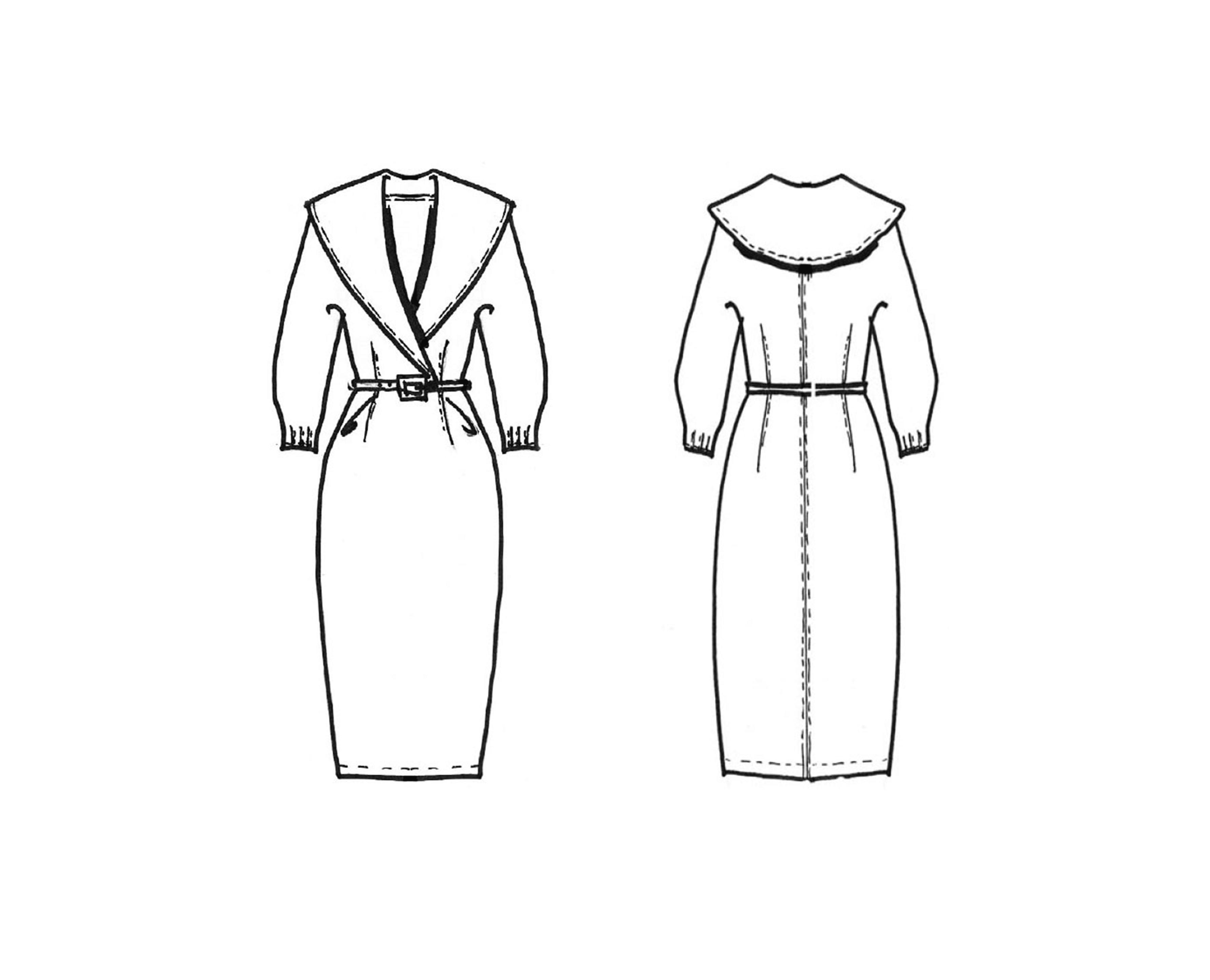 Kleid mit Dachkragen