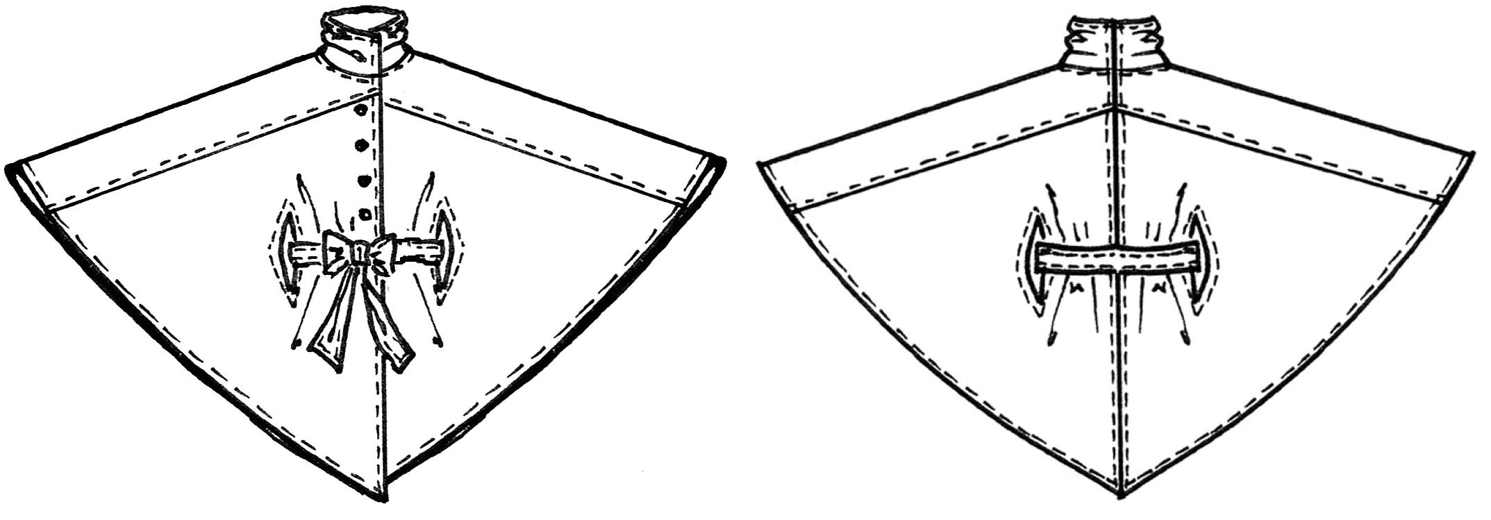Schnittkonstruktion Cape mit Schulterpasse
