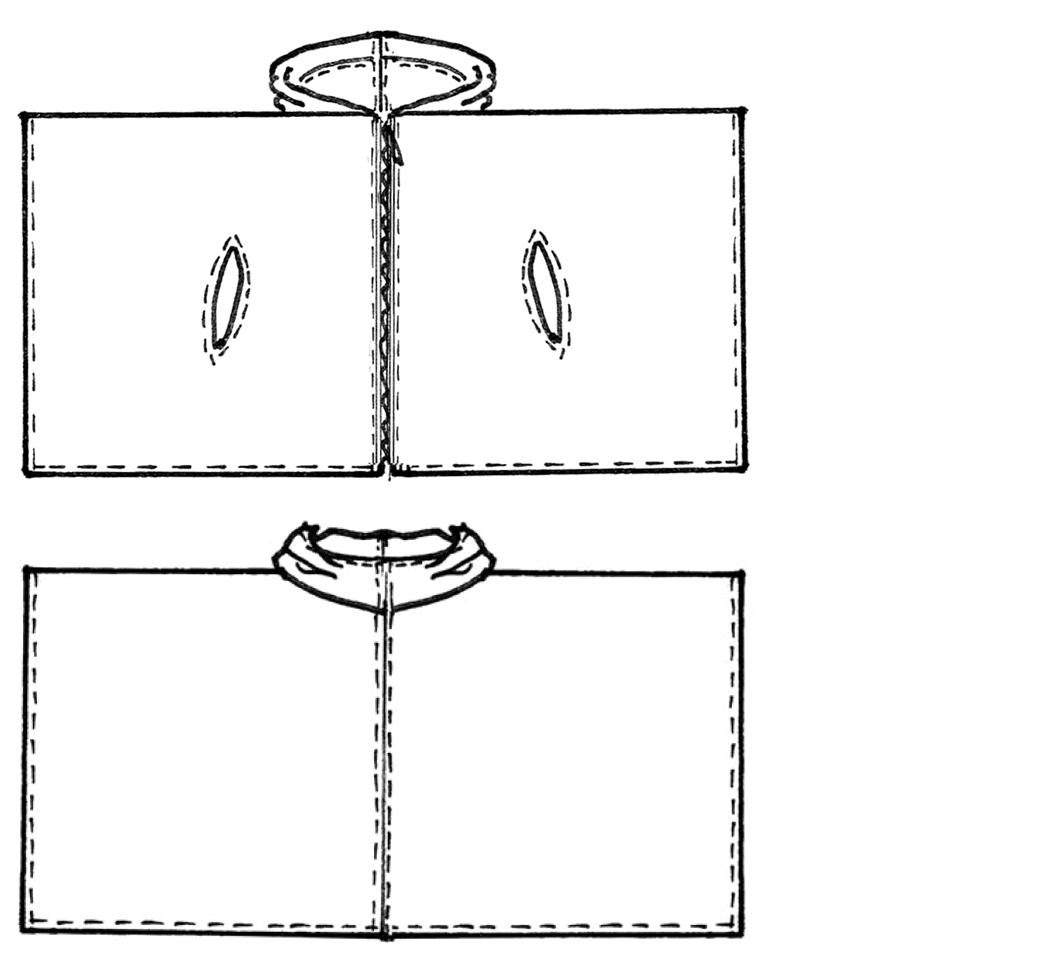 Schnittkonstruktion Poncho mit Kapuze