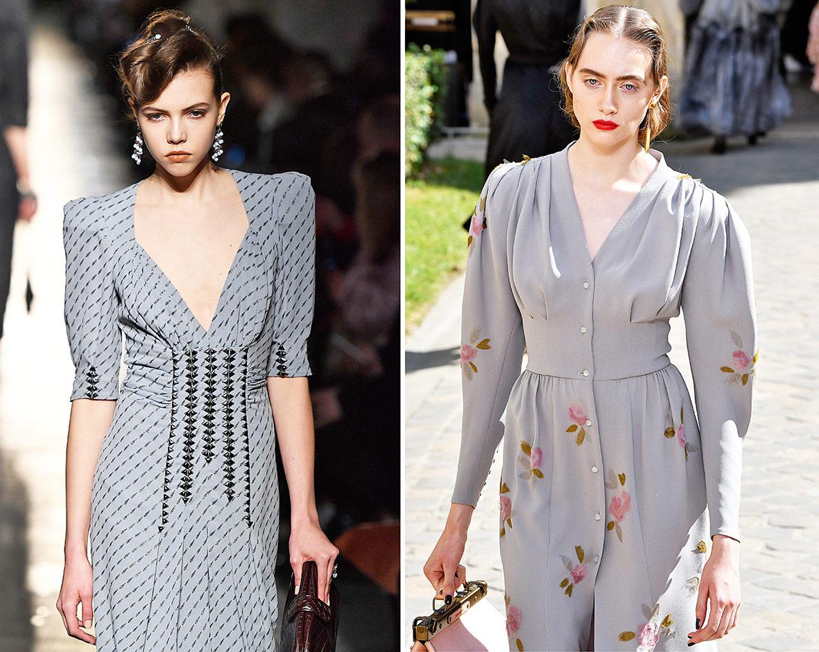 Kleider im Vintage-Look auf dem Laufsteg bei Bottega und Seergenko