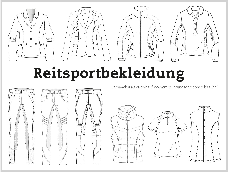 Reitsportbekleidung Schnitttechnik: Tunier-Jackett und Reithose
