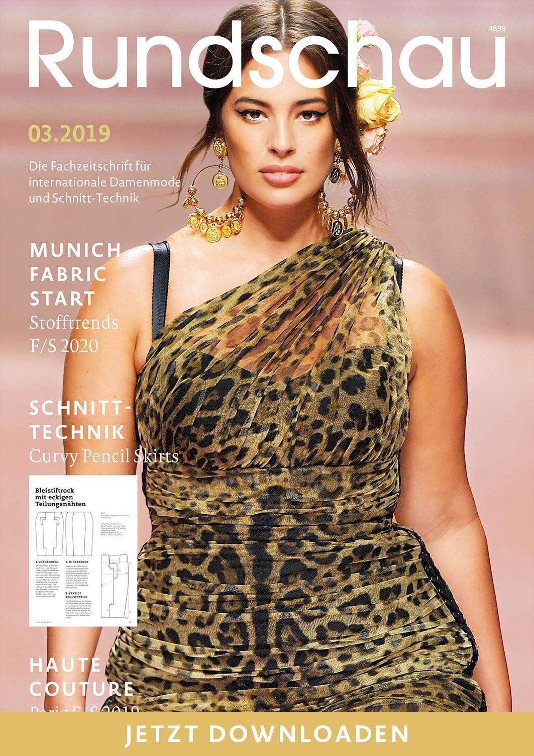 Rundschau für Internationale Damenmode und Schnitt-Technik 03.2019