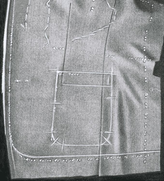 Aufgesetzte Taschen am Herren-Sakko