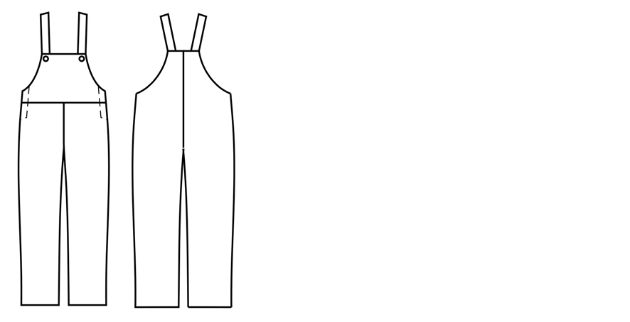 Kinder Latzhose Schnittkonstruktion