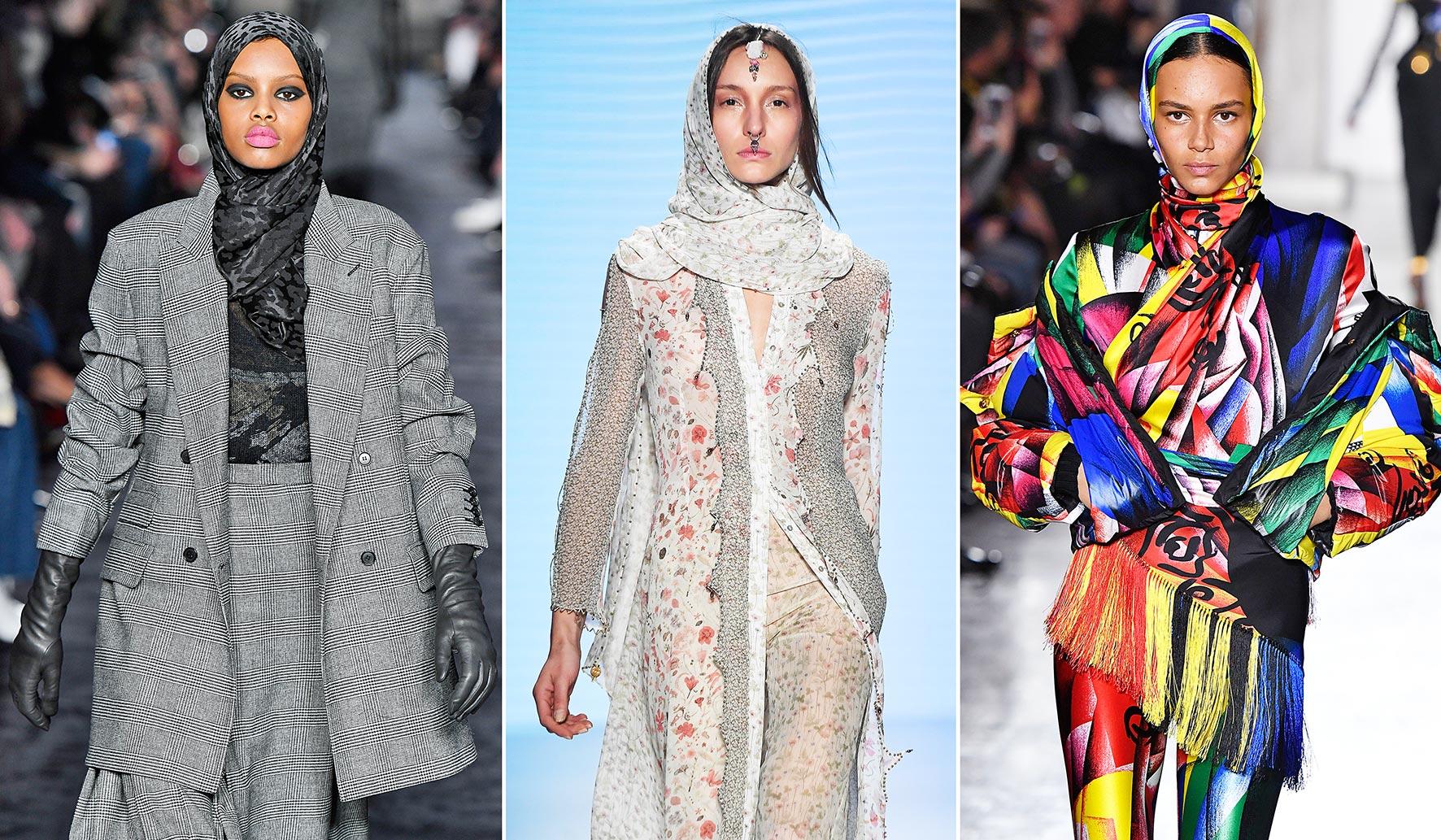 Inspiration Runway: Hidschab und Schaila bei Max Mara, Helo Rocher und Versace.