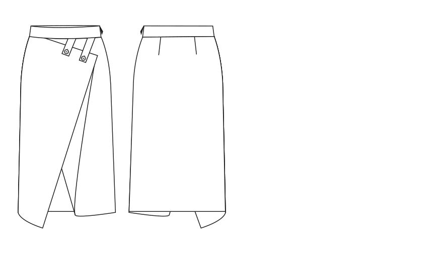 Entwurf für Bleistiftrock