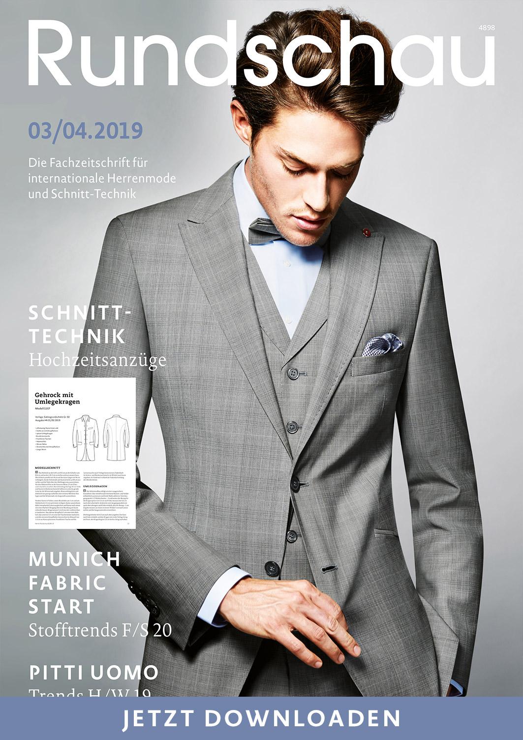 Titel Schnellansicht der Fachzeitschrift für internationale Herrenmode und Schnitt-Technik.
