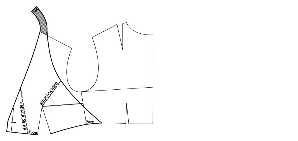 Schnittkonstruktion für ein Neckholder-Top.