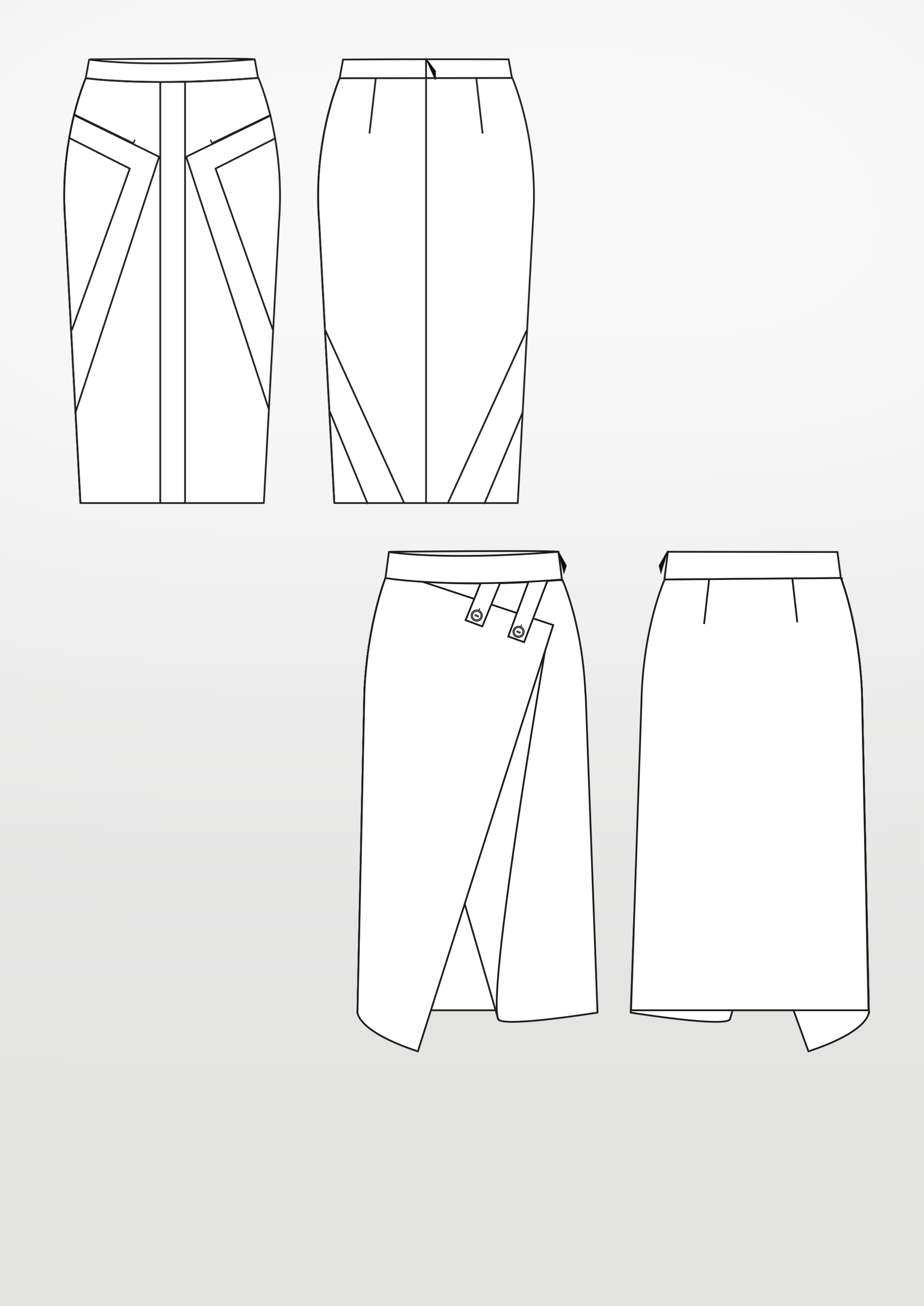Produkt: Schnittmuster Bleistiftröcke 1