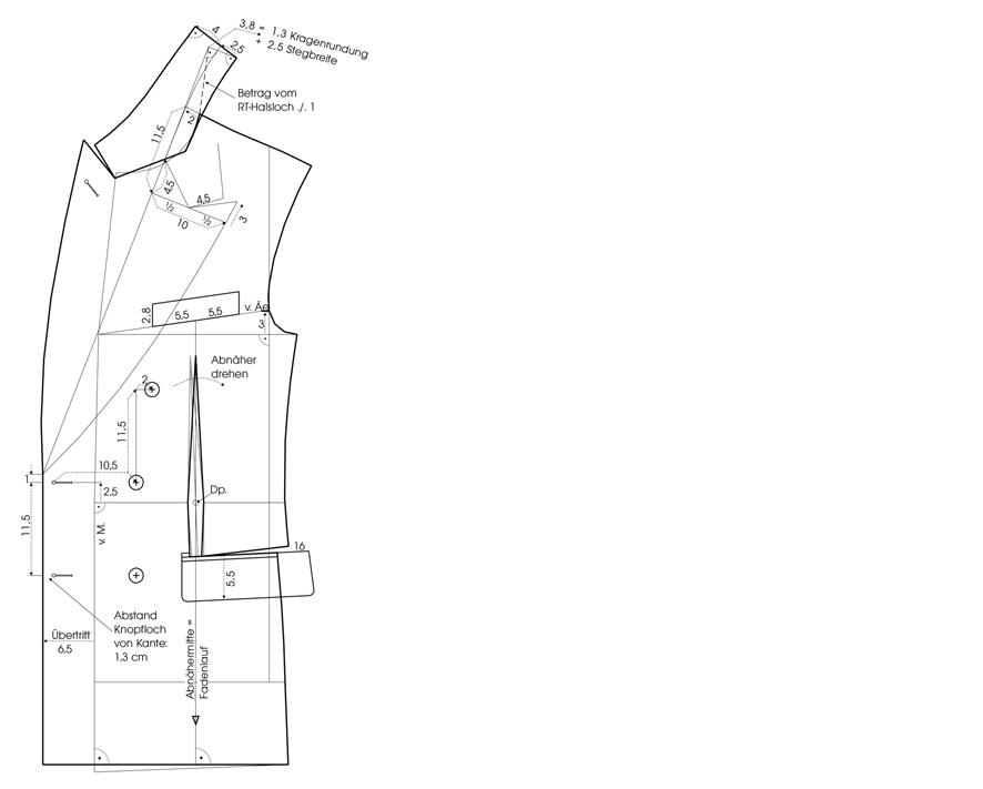 Schnittkonstruktion Sakko