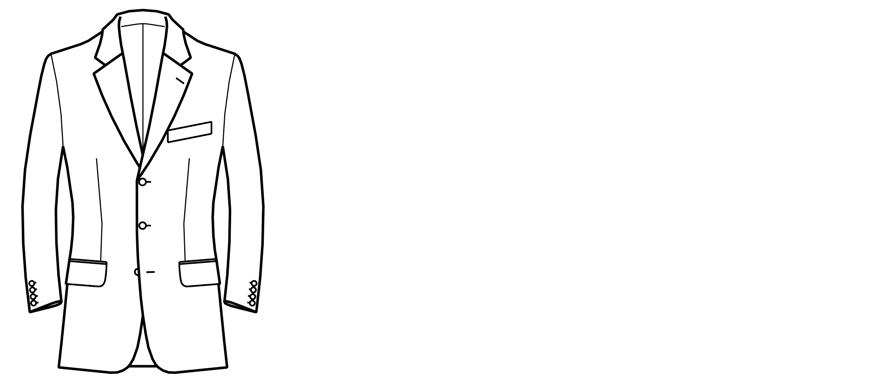 Einreihiges Sakko mit drei Knöpfen