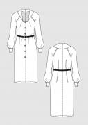 Produkt: Schnittmuster Vintage Kleid 70er Jahre