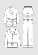 Produkt: PDF-Download: Schnittmuster Pyjama