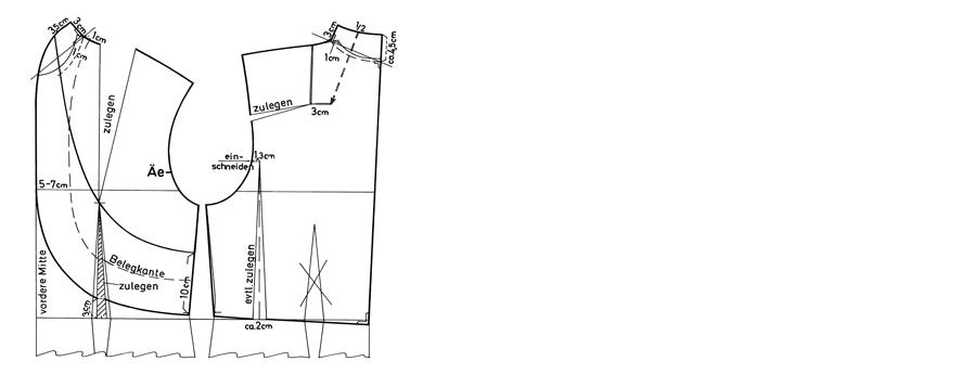 Schnittkonstruktion Bolero