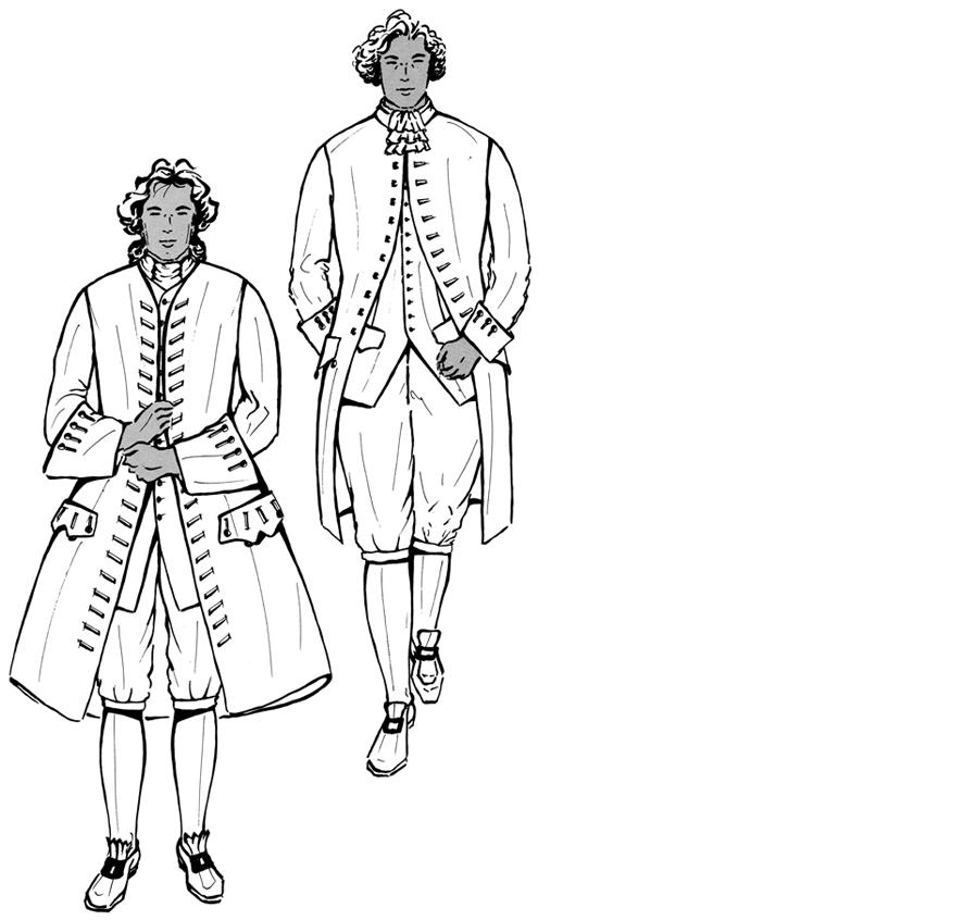 Historische Herrenmode – Rokoko