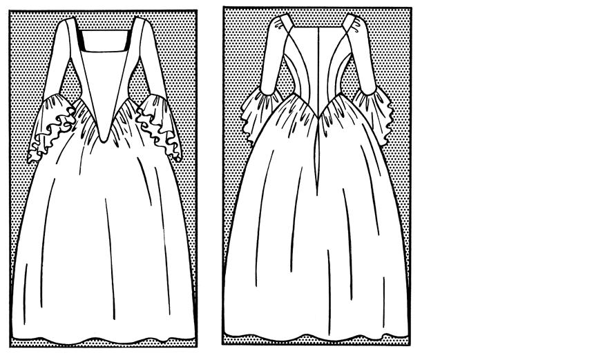 18. Jahrhundert – Rokoko-Kleid