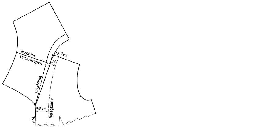 Schnittkonstruktion eines Matrosenkragens