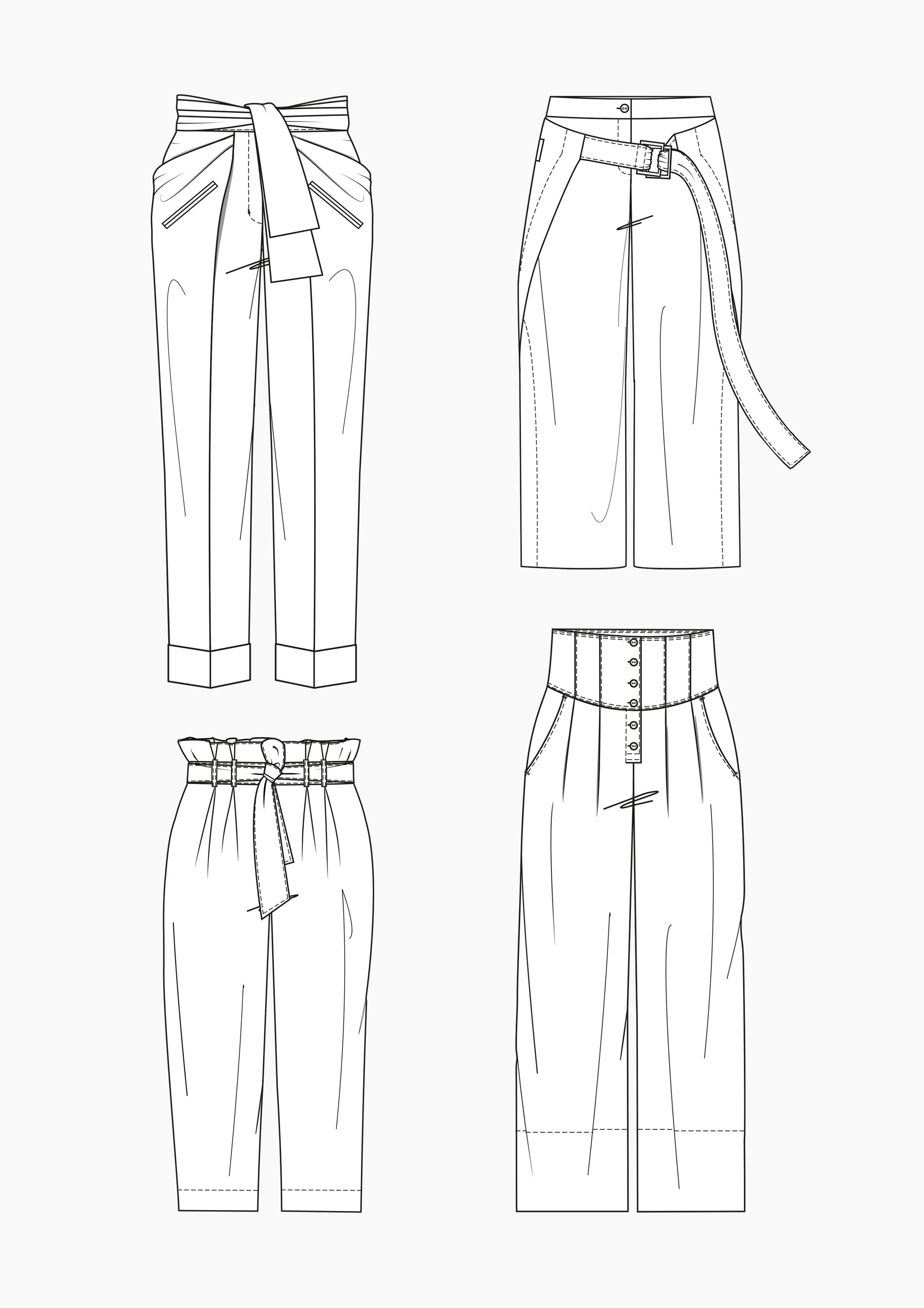 Produkt: Schnitt-Technik Weite Hosen