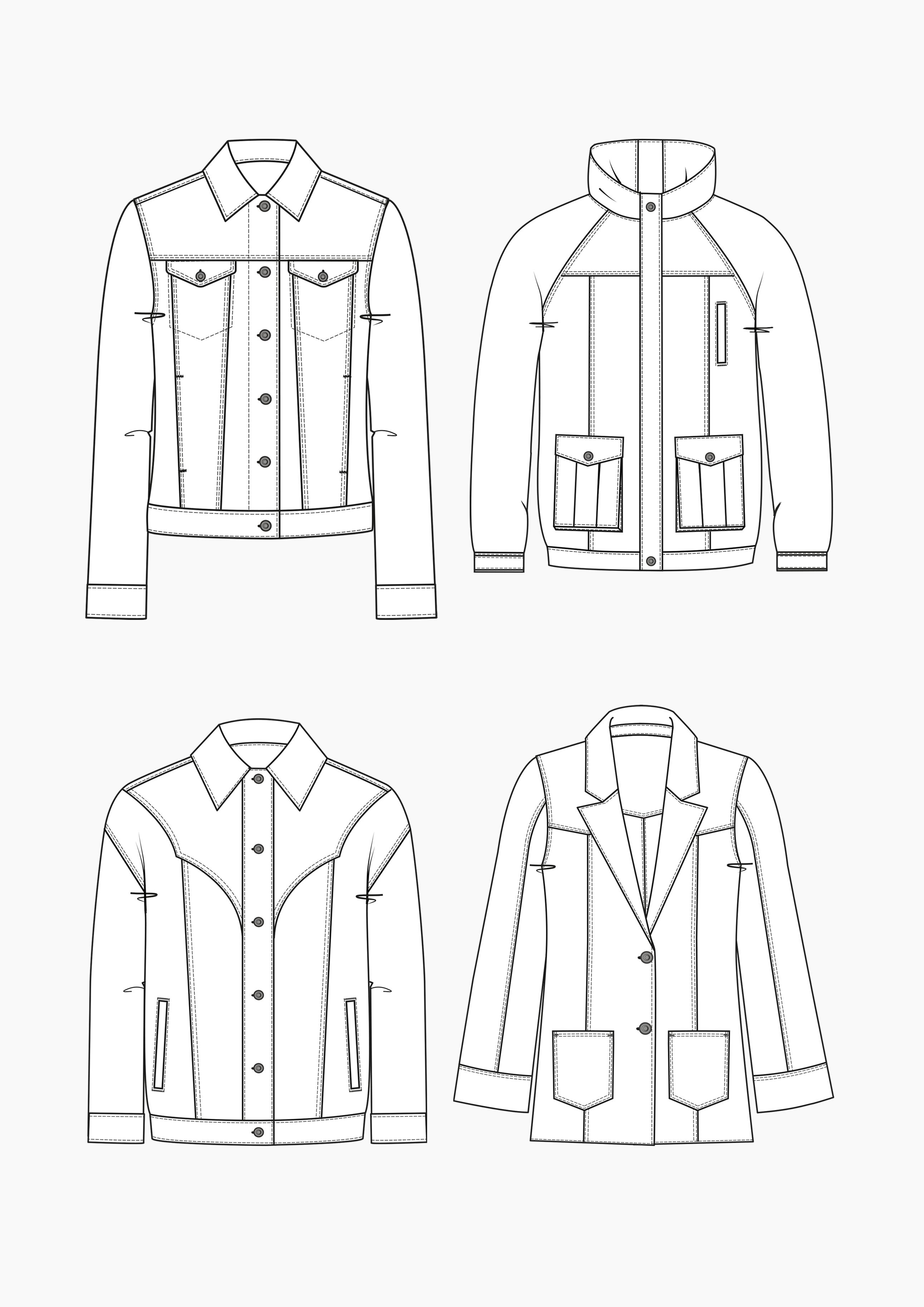 Produkt: Schnitt-Technik Jeansjacken