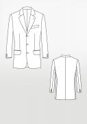 Produkt: Schnittmuster Sakkogrundschnitt einreihig – Bogen Nr. 2