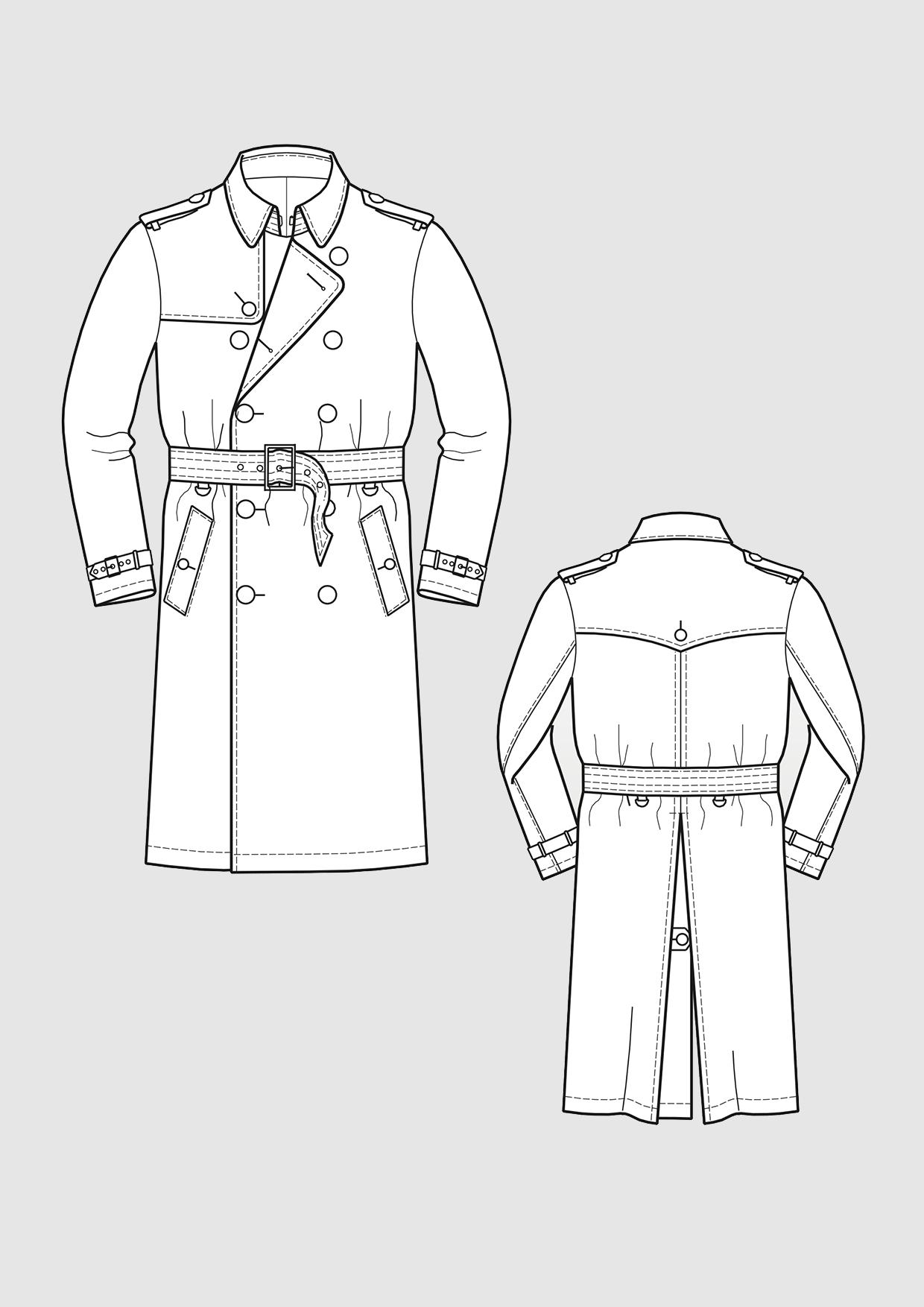 Produkt: Schnittmuster Trenchcoat für Herren