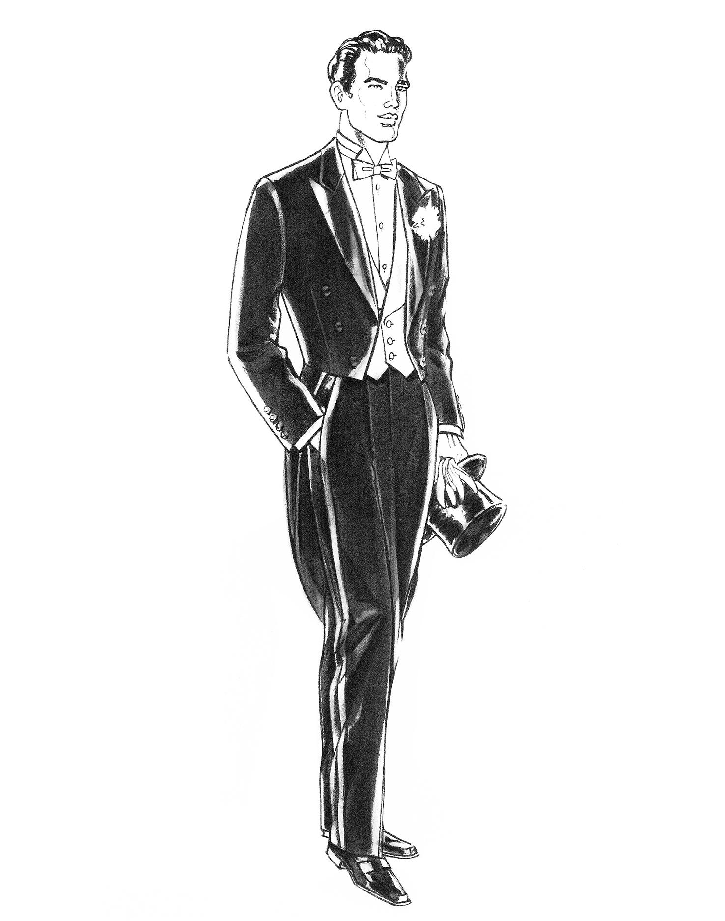Der klassische Frack Anzug
