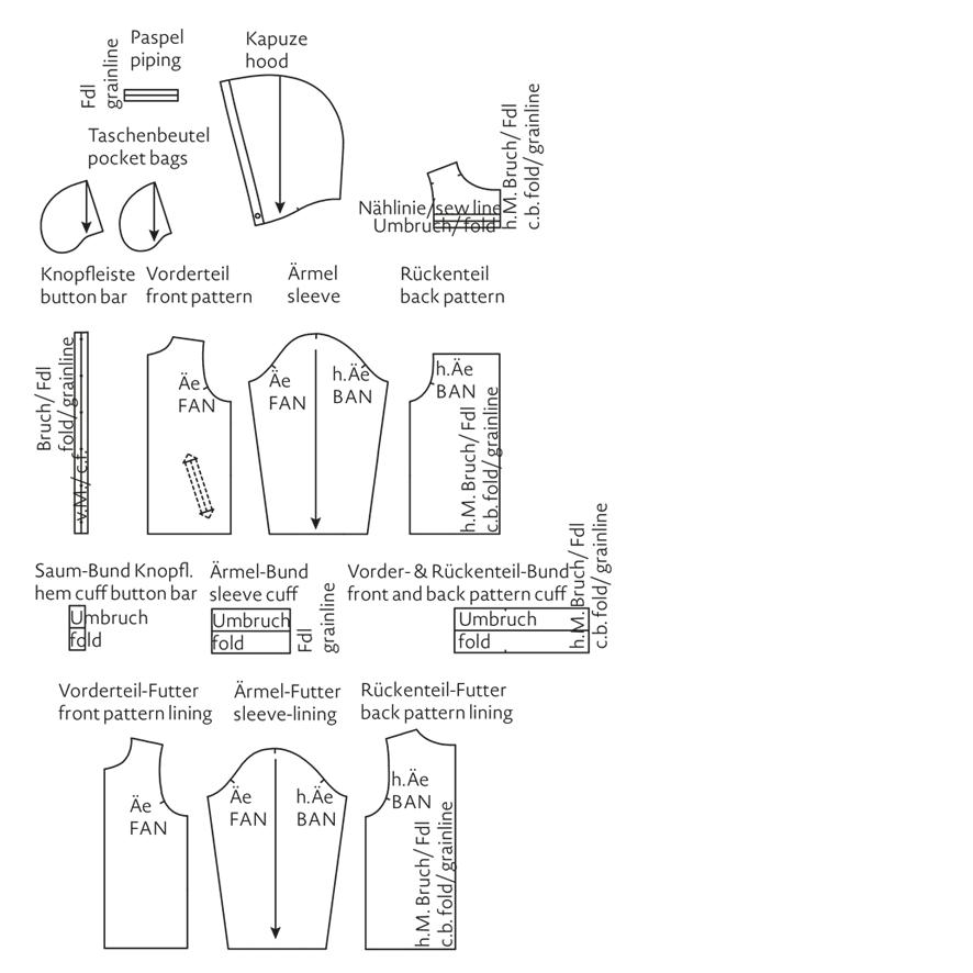 College-Jacke mit Kapuze für Kinder