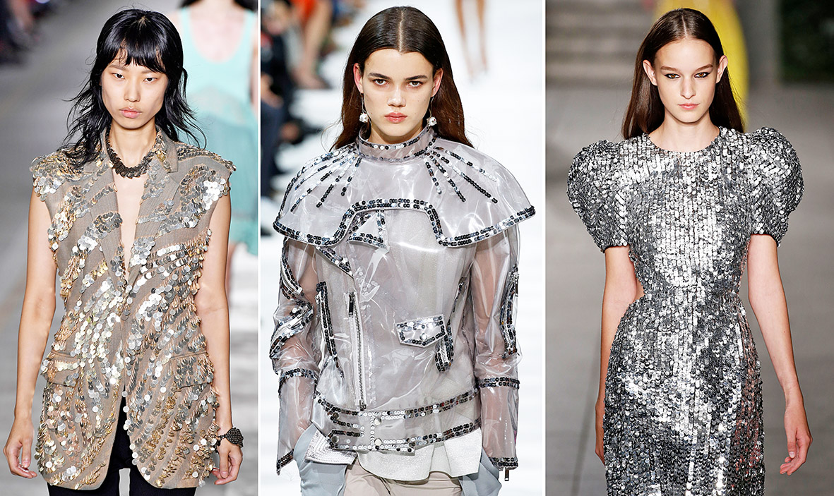 Pailletten Metallic-Look