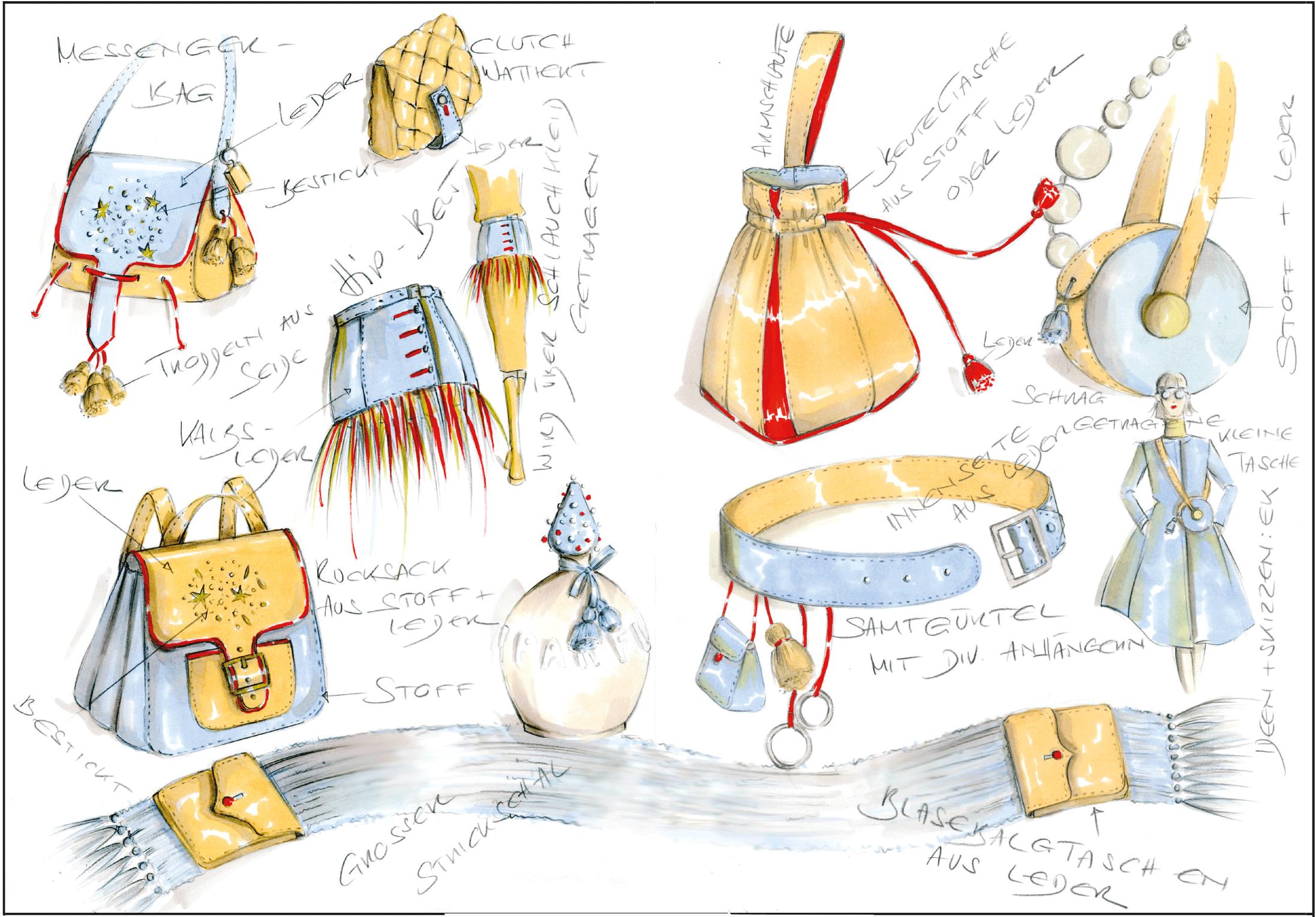 Accessoires: Taschen, Gürtel, Rucksack nähen