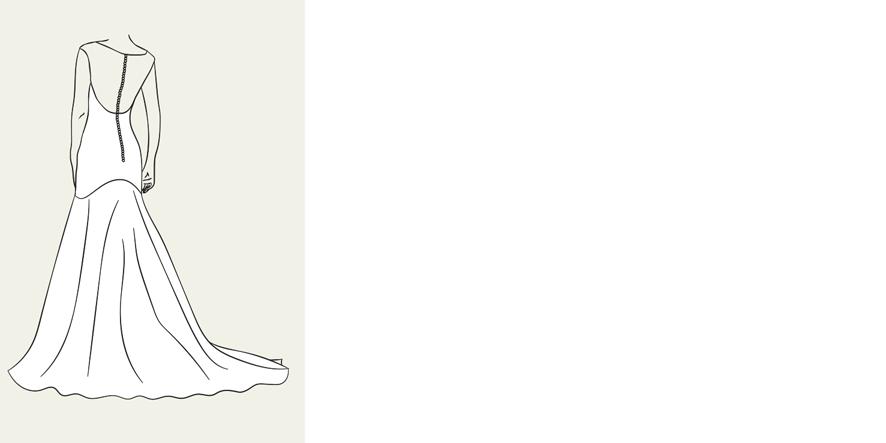 Brautkleid in Trompeten-Linie