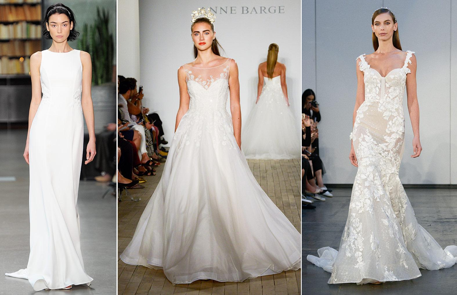 Brautkleider in verschiedenen Silhouetten