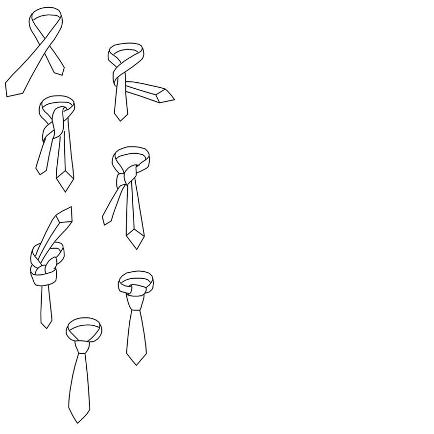 Anleitung für einen Windsorknoten