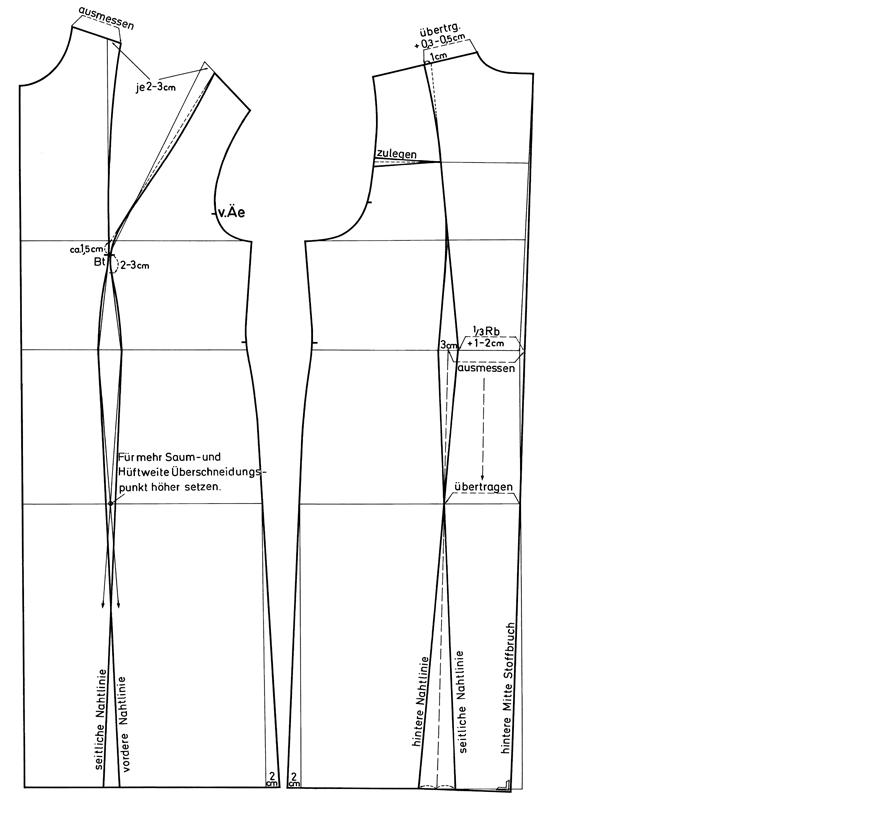 Schnittkonstruktion Prinzessnaht