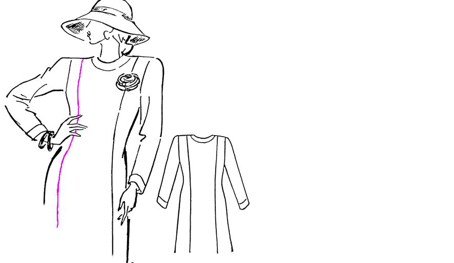 Zeichnung einer Prinzessnaht