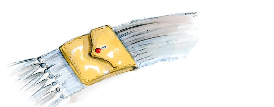 Schal mit Tasche