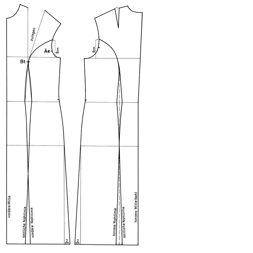 Schnittkonstruktion Wiener Naht
