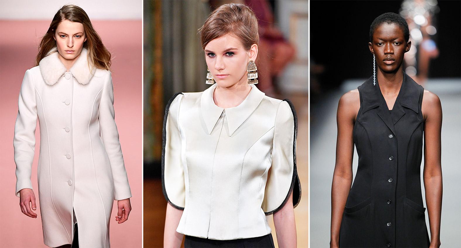 Models mit Prinzesskleidern und Jacke mit Wiener Naht