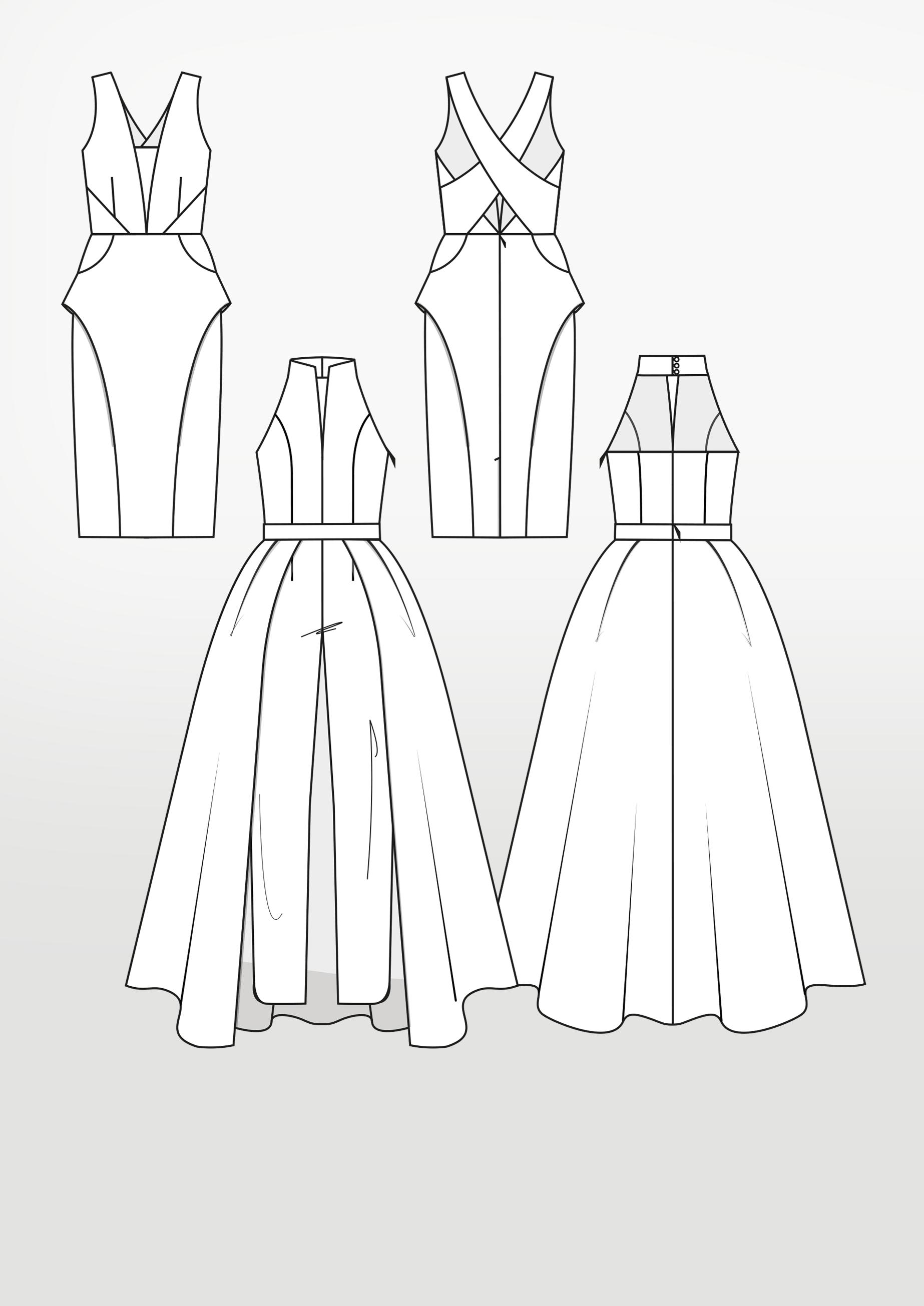 Produkt: Schnittmuster Kleid und Jumpsuit