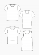 Produkt: Download Schnittmuster HAKA T-Shirts und enges Top