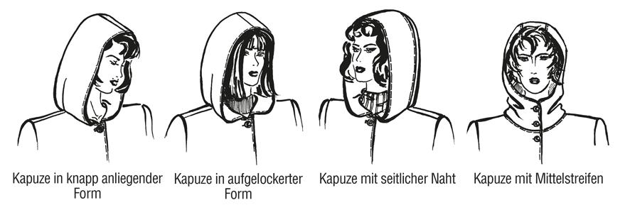 Kapuzenformen für Damenmode