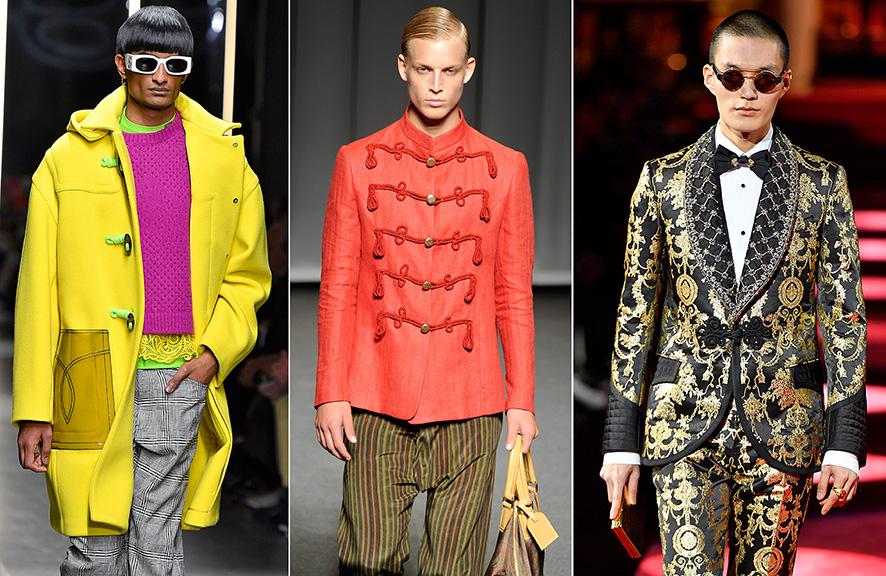 Herren-Jacken mit Posamenten