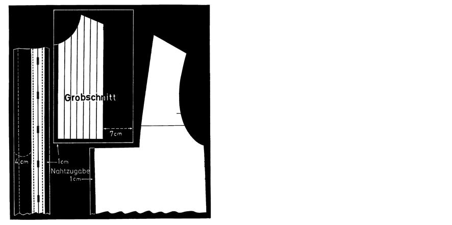 Schnittkonstruktion einer Bluse